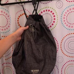 Victoria's Secret glittery draw string bag